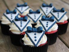 Cute red velvet tuxedo cupcakes