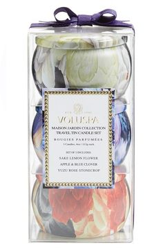 Voluspa 'Maison Jardin' Mini Tin Candle Trio ($24 Value) available at #Nordstrom  Sale: $15.90 After Sale: $21.00 	Item #1092208