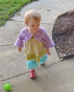 handmade shrug from  http://www.etsy.com/listing/96239148/sweet-little-shrug-sweater-flower-girl?sent=1