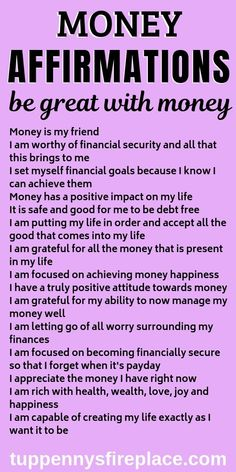 I love these positive money affirmation mantras. Do these every day and watch how the law of attraction will manifest itself in your life. Practice gratitude and be grateful for the wealth you already have. No need to be a lottery winner, you can win with Positive Affirmations Quotes, Wealth Affirmations, Morning Affirmations, Affirmation Quotes, Affirmations For Love, Wisdom Quotes, Healing Affirmations, Positive Mantras, Life Quotes