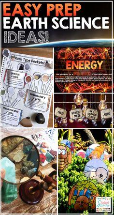 Science - Easy Prep Teaching Ideas Earth Science Ideas - Little to No Prep Activities for Elementary Students!Earth Science Ideas - Little to No Prep Activities for Elementary Students! Science Resources, Science Lessons, Science Activities, Science Ideas, Life Science, Teaching Science, Teacher Freebies, Teacher Blogs, Teacher Hacks