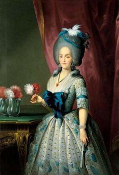 Maria Luisa Parma by Salvador Maella (Banco de España) | Grand Ladies | gogm