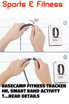 Basecamp Fitness Tracker HR, Smart Band Activity Tracker Watch with Heart Rate Monitor, Sleep Monitor, Steps Counter IP67 Waterproof Pedometer Watch for Women Men, AndroidandiOS Activity Tracker Watch, Best Fitness Tracker, Heart Rate Monitor, Counter, Sleep, Activities, Band, Reading, Women