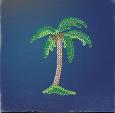 Palm tree hamma beads