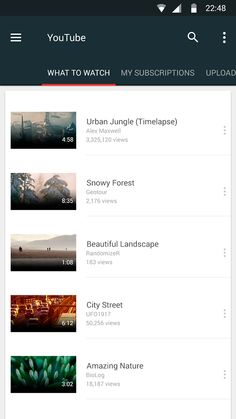 YouTube app Material Design concept on Behance