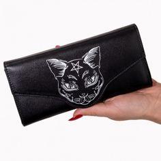BANNED Black Cut Anchor Wallet Geldbörse Clutch Gothic Punk Rockabilly NEU