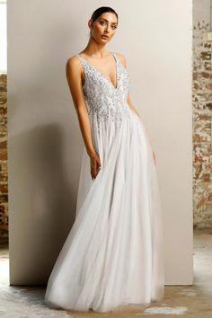4ff79e22dfb Jadore JX1077 White Crystal Tulle Formal Dress