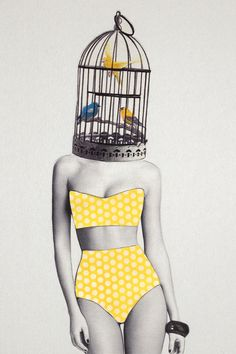 Bird Brained Babe Art Print by Jenny Liz Rome | Society6