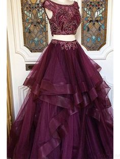 two pieces prom dresses,beading bodice prom dresses,#SIMIBridal #promdresses