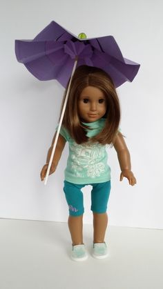 American Girl Doll Crafts and Fun!: Craft: How to Make a Doll Umbrella