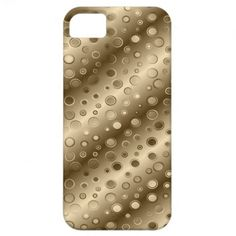 Gold Circle Champagne Bling iPhone 5 Case