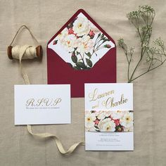 Our elegant floral wedding invite set coming soon to our house collection. #wedding #weddinginvites #natural #floral #getting-married #engaged #love #burgundy @thenationalweddingshow