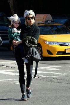 Sienna Miller and her daughter, Marlowe. (March 2015)