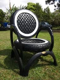 Brilliant Ways To Reuse And Recycle Old Tires ! Tire Furniture, Recycled Furniture, Handmade Furniture, Home Decor Furniture, Garden Furniture, Furniture Design, Tire Garden, Indoor Garden, Outdoor Gardens