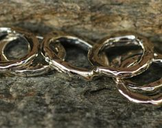 Artisan Thick Textured Jump Ring Link in Golden by CathyDailey