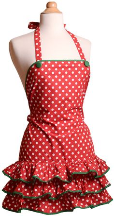 Holiday apron - I love all the aprons from this website, but I'm really loving their new holiday designs!