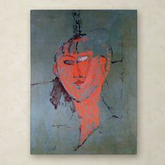 The Red Head 1915 by Amadeo Modigliani Painting Print on Wrapped Canvas