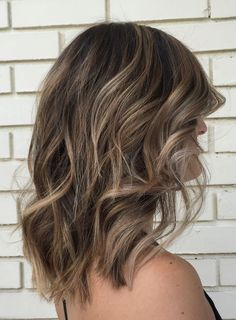 Delicate Balayage for short length hairstyle 2017