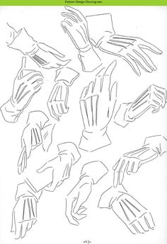 Fashion Design Drawing - Fashion Sketches Arms And Hands Part 1- gloves
