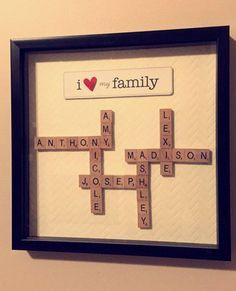 A great wedding, housewarming, or holiday gift for families! Happy to customize the piece to fit your needs.