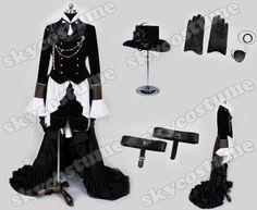 Kuroshitsuji Black Butler Ciel Phantom Cosplay Costume | eBay