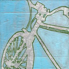 Bike Vermont   Archival print of original bicycle by OffTheMapArt, $17.00