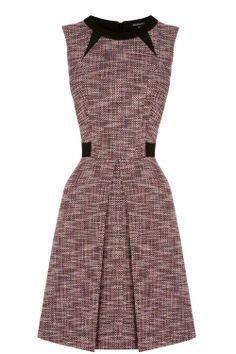 Dresses | Red MULTI TWEED DRESS | Warehouse