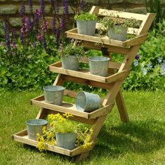 Garden Trading - Original accessories and lighting for home, garden and outdoor life - Wooden 4 Tier Herb Pot Stand