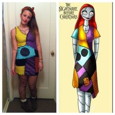 Costume tutorial sally from nightmare before christmas halloween miss mel and i have always been a fan of making our own costumes rather solutioingenieria Choice Image