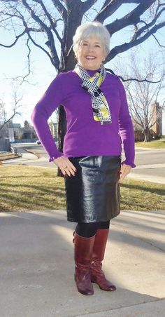 Leather Skirt 3 (With Silk) - Jodie's Touch of Style