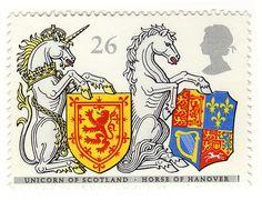 UK postage stamp by Post Office, via Flickr
