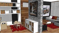La salle familiale de Jessica - Idées design pour votre maison - Canal Vie Basement Gym, Basement Remodeling, Home Budget, Playroom, Entryway, New Homes, Kids Rugs, Living Room, House