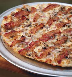 The Chicken Alfredo pizza at Mr. Bigg's.