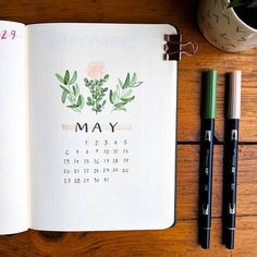 Love this May Monthly Cover! Bullet Journal Inspiration 😍 - Love this May Monthly Cover! Bullet Journal Month Cover, February Bullet Journal, Bullet Journal Headers, Bullet Journal Monthly Spread, Bullet Journal Writing, Bullet Journal 2020, Bullet Journal Aesthetic, Bullet Journal Layout, Bullet Journals