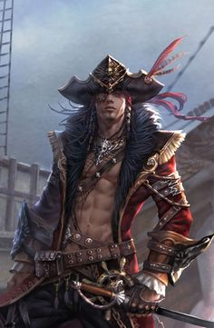 Here Ye be ladies a tasty morsel for you!!! Wow, he can plunder my treasure anytime!