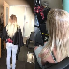 Before/After #lob  2 years old this uber light ends are. Blondie really wanted her ends. Long blonde hair. Today is the day we cut off the ends. So happy... #blondelob #haircut #lobhaircut #hairstyle #salonrepublic #patricialynnlaas #patricialynnlaashairco #educator #lovetoteach #goldenblonde #longtoshort #babylights #goodsalon #goodhair #hairsalon