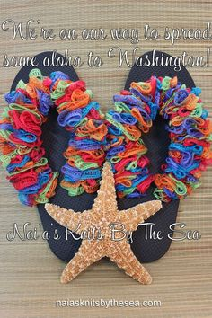 To Purchase your Aloha Slippers, you can visit our website: www.naiasknitsbythesea.com Facebook page: https://www.facebook.com/NaiasKnitsByTheSeaor Etsy:http://www.etsy.com/shop/NaiasKnitsByTheSea