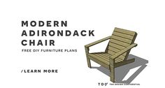 Free Diy Furniture Plans // How To Build An Outdoor Modern Adirondack...