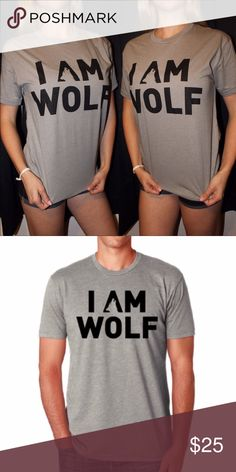I AM WOLF Grey Logo T-Shirt (% Donated to Animals) *Unisex sizing* Half of profits will help save animals, and the other half will go toward growing this movement. Thank you for your support! I AM WOLF Tops Tees - Short Sleeve