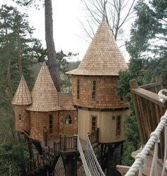 Bespoke Blue Forest Tree Houses - true things of beauty