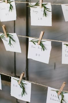 Escort card idea 3 (and I'm sure to have many many more...)