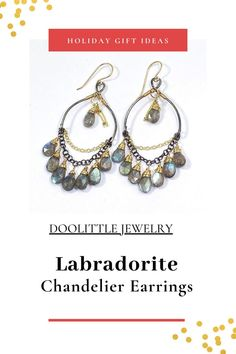Labradorite Jewelry, Gemstone Earrings, Hoop Earrings, Holiday Jewelry, Jewelry Gifts, Mixed Metal Jewelry, Fine Jewelry, Chandelier Earrings, Custom Jewelry