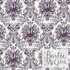 ❇ Modern damask! ❇ Premium pattern available on @patternbank #patternbankpremium #newonpatternbank #patternbank #patternbankdesigner  #surfacedesign #surfacepatterndesign #damask #fashion #interiordesign #pattern #fabric #elegant #purple #barbiemcguirepatterns #barbiemcguire