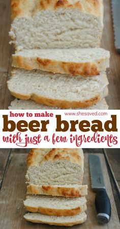 Not only is this beer bread delicious, it's a bread that you can make super quick and with just a few ingredients. It's the perfect bread to make if you don't have yeast because the bread works as the… Bread Machine Recipes, Easy Bread Recipes, Baking Recipes, Bread Flour Recipes, Easiest Bread Recipe Ever, Loaf Recipes, Beer Recipes, Baking Desserts, Coffee Recipes