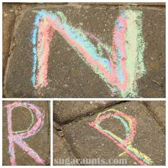 Tracing Letters Handwriting Practice with Chalk - The OT Toolbox