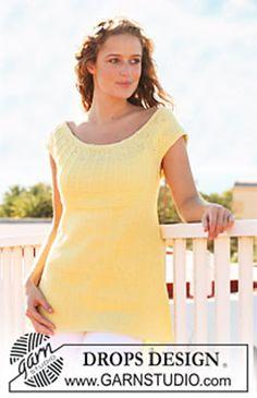Ravelry: 113-27 Top with short raglan sleeves in Muskat pattern by DROPS design