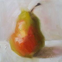 """Natural Pear"" - Original Fine Art for Sale - © Cindy Haase"