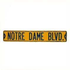 Decoration Archive Notre Dame Sign Vintage Accessories