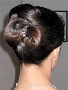 Updo for long hair