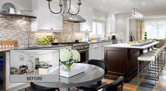 condo kitchen designs for modern contemporary: rounded centre lamp